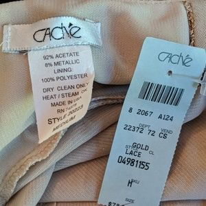 Cache Tops - Gold top by Cache. Medium new with tags
